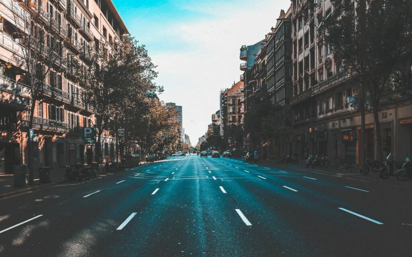 straat in barcelona