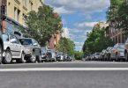 blauwe parkeerzone in barcelona