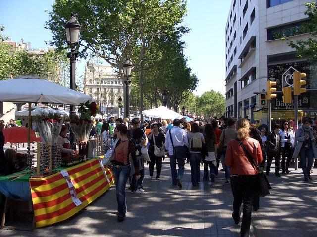 book stalls in barcelona
