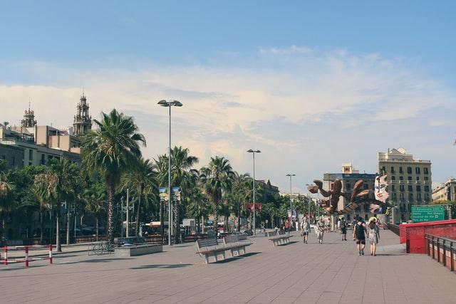 nabij de haven van barcelona