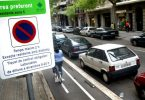 parkeerbord in barcelona