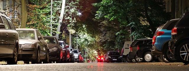 parkeren langs de weg
